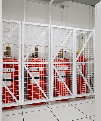 FM200 waterless fire suppression system