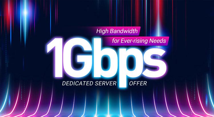 1Gbps Dedicated Server Offer