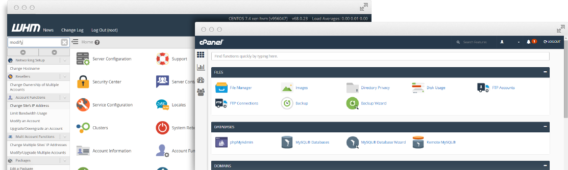 cPanel & WHM Demo Picture