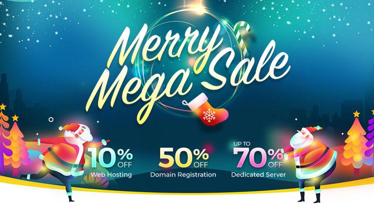 Web Hosting and Dedicated Server Merry Mega Sale